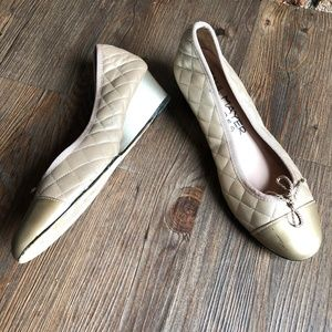 PAUL MAYER ATTITUDES Quilted Wedge Heels Shoes 6.5